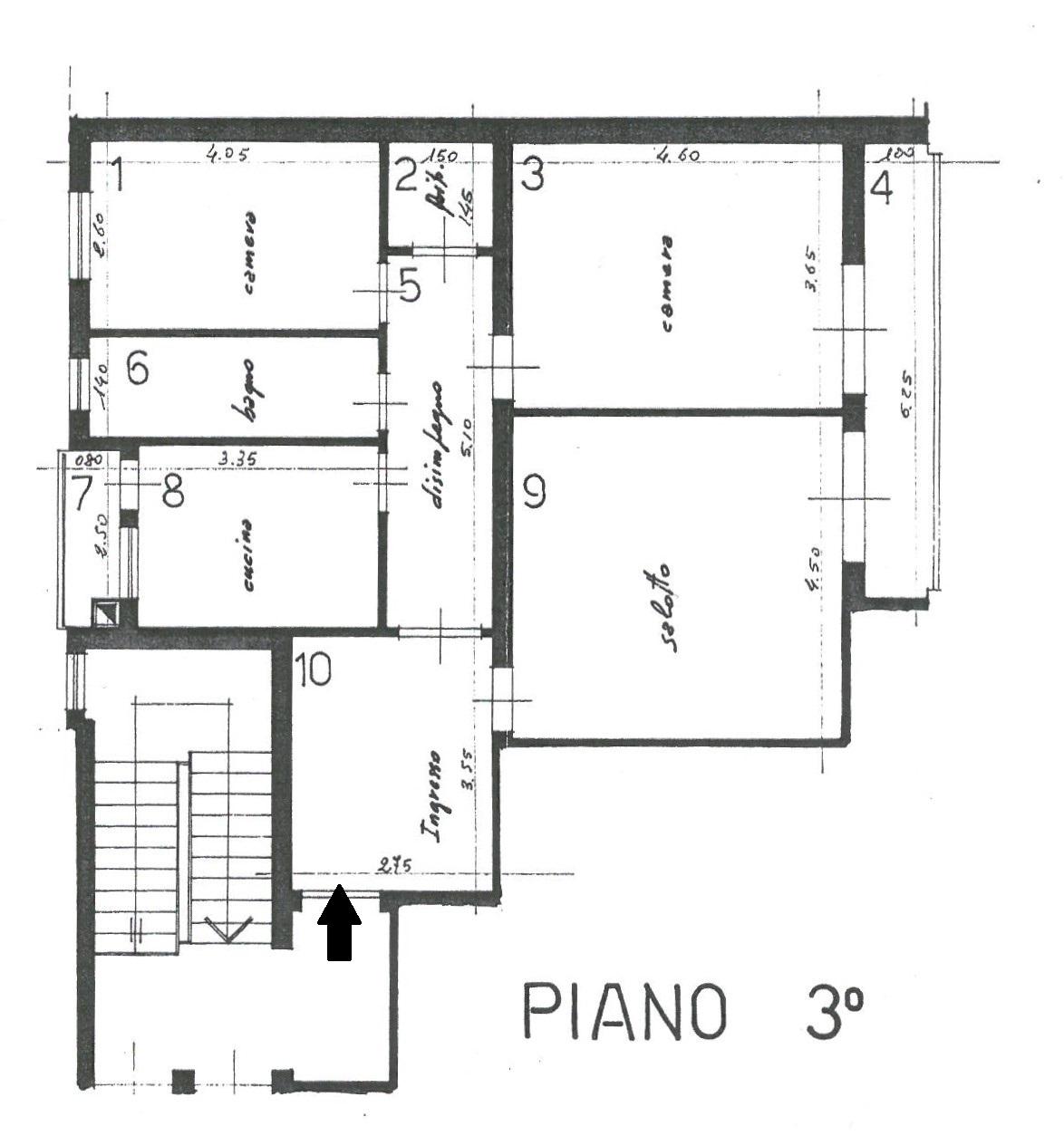 Appartamento in vendita, rif. K152 (Planimetria 1/1)