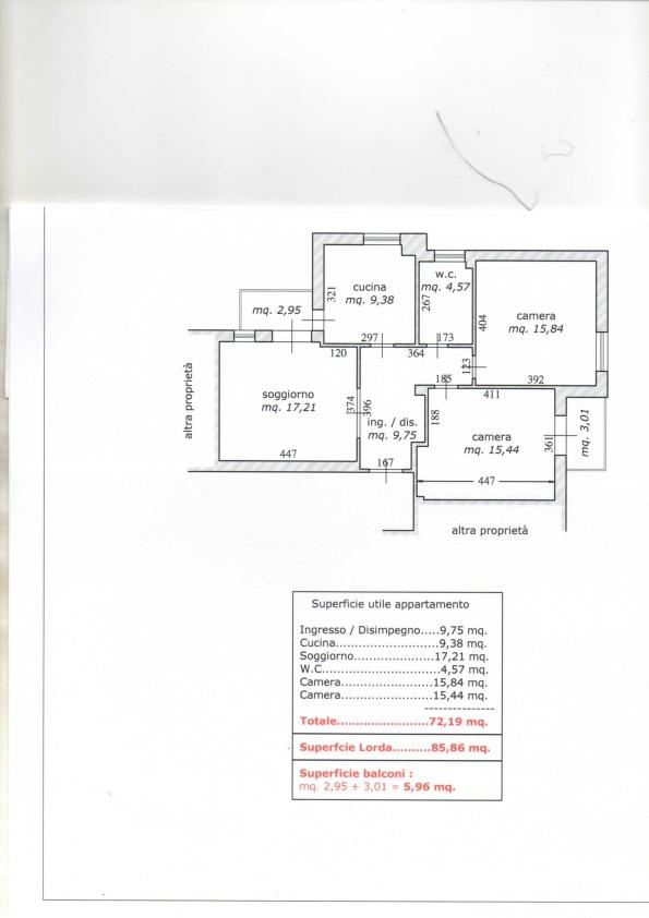 Planimetria 1/1 per rif. ap2606