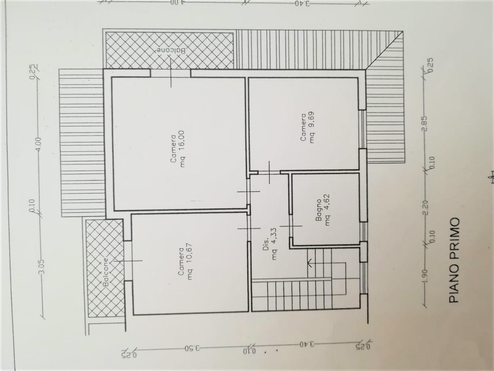 Planimetria 2/2 per rif. 1/Vill45