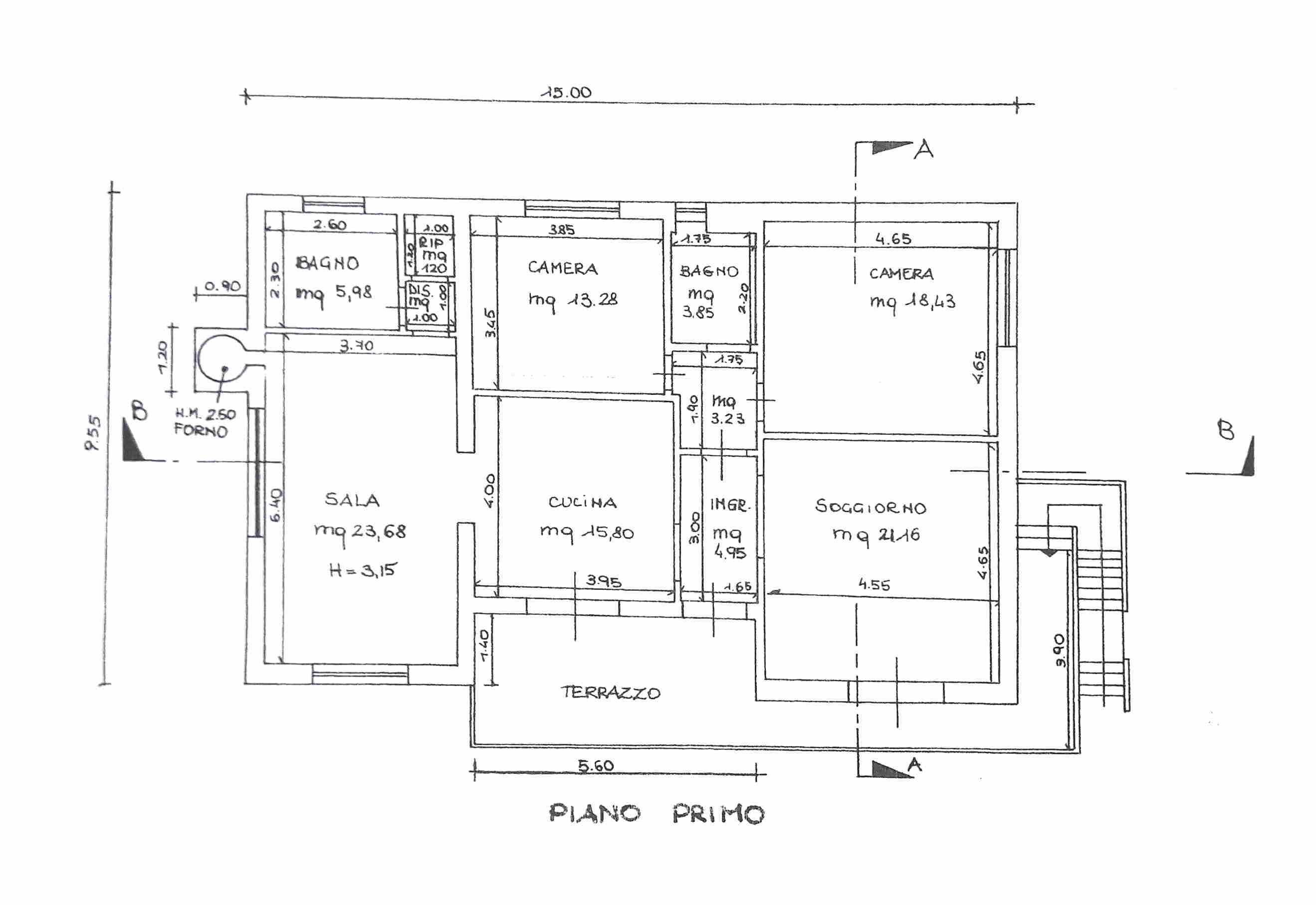 Planimetria 1/2 per rif. 0051