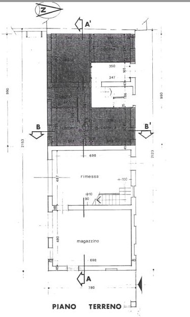 Planimetria 1/4 per rif. 0056