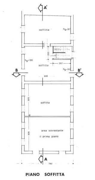 Planimetria 3/4 per rif. 0056