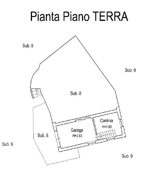 Planimetria 3/4 per rif. 0061