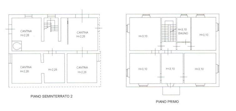 Planimetria 1/4 per rif. 0073