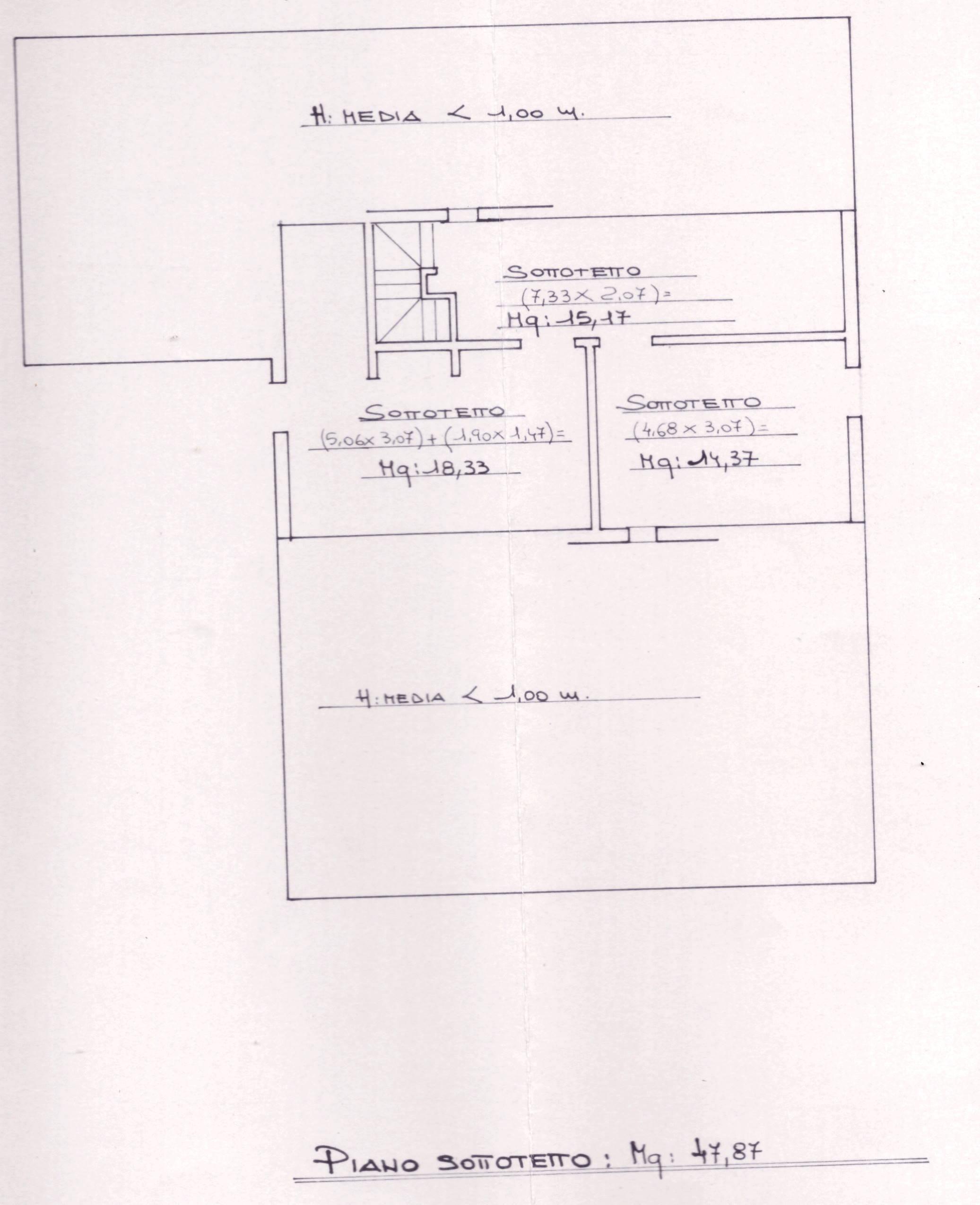Planimetria 2/5 per rif. 0075