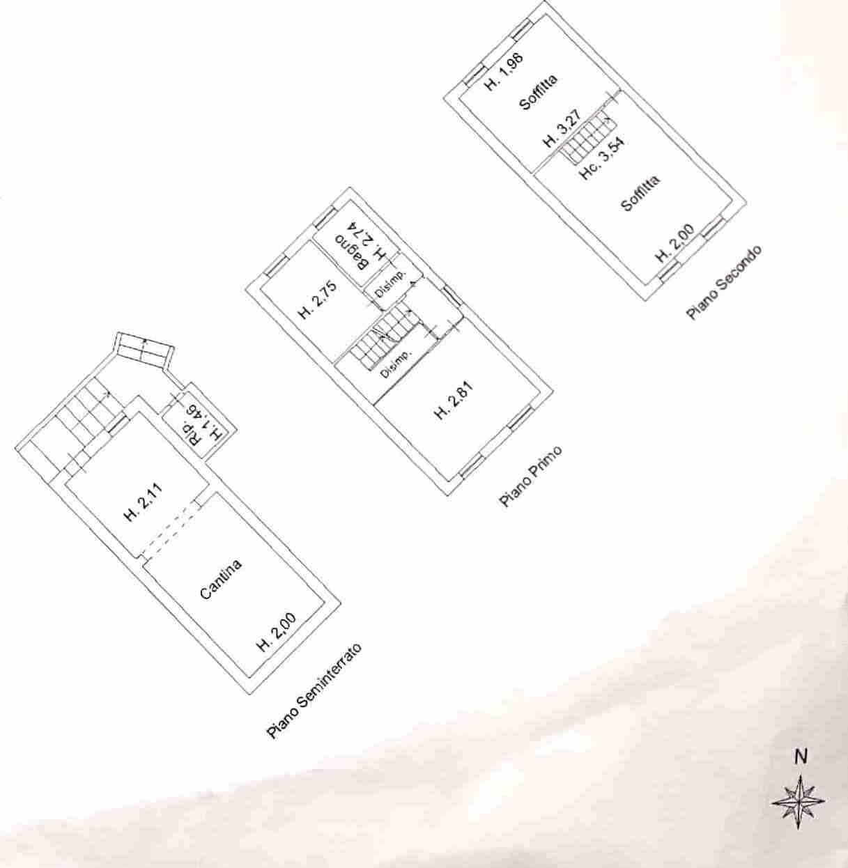 Planimetria 1/2 per rif. 0080