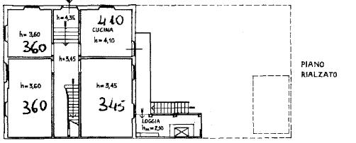 Villa singola in vendita, rif. F/0465 (Planimetria 2/4)
