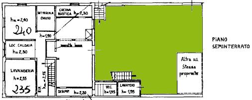Villa singola in vendita, rif. F/0465 (Planimetria 1/4)