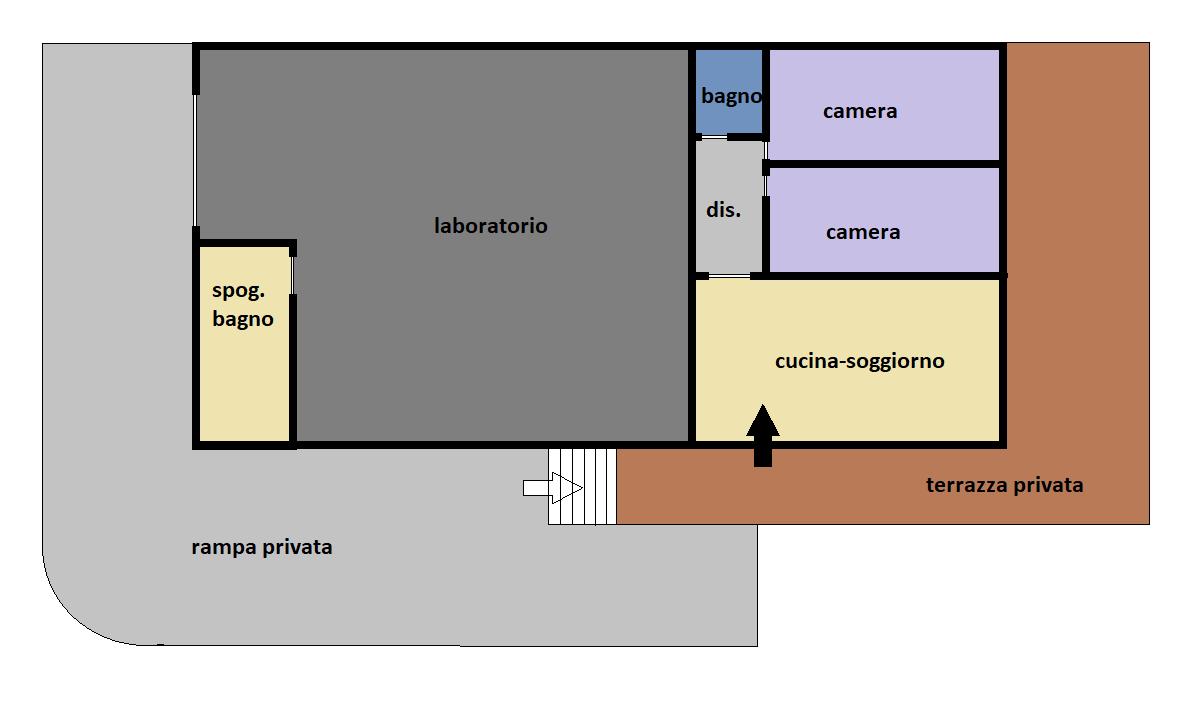 Casa semindipendente in affitto, rif. F/0468 (Planimetria 1/1)