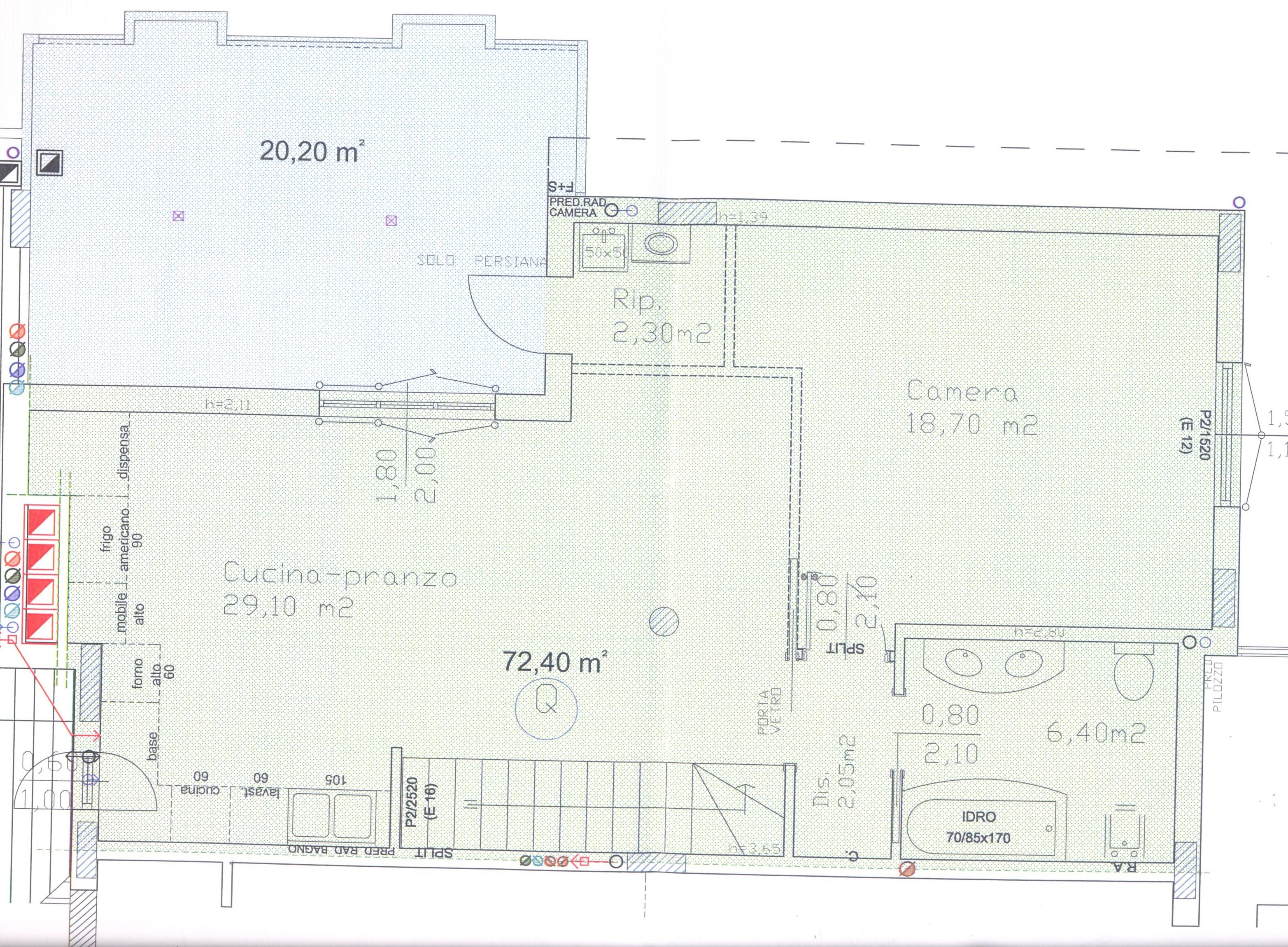 Planimetria 2/4 per rif. F/0092