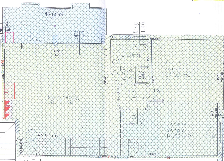 Planimetria 1/4 per rif. F/0092