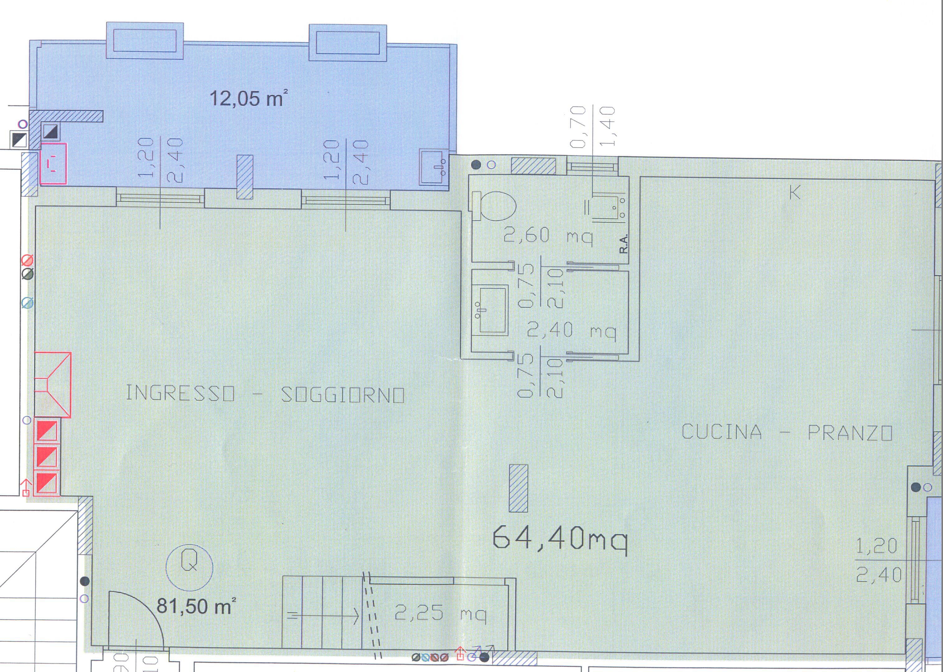 Planimetria 3/4 per rif. F/0092