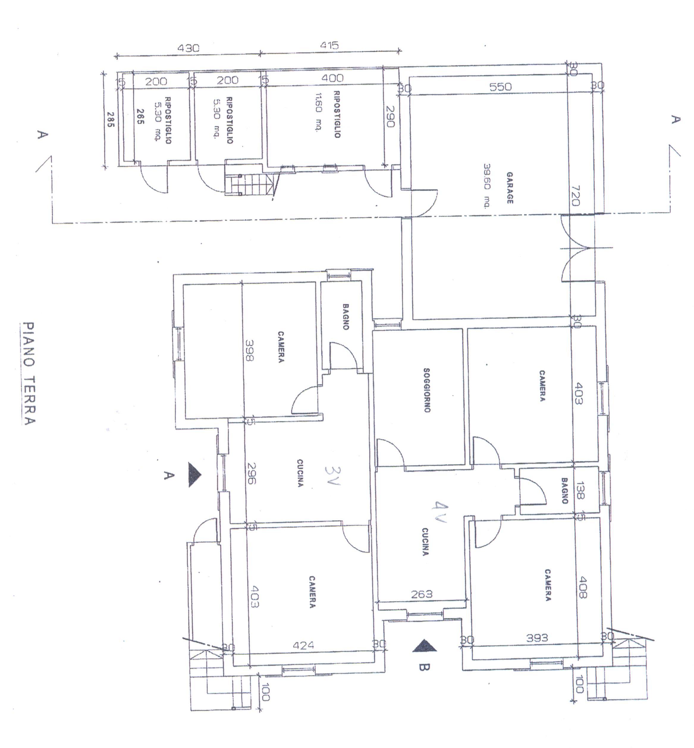 Planimetria 1/4 per rif. B/0218