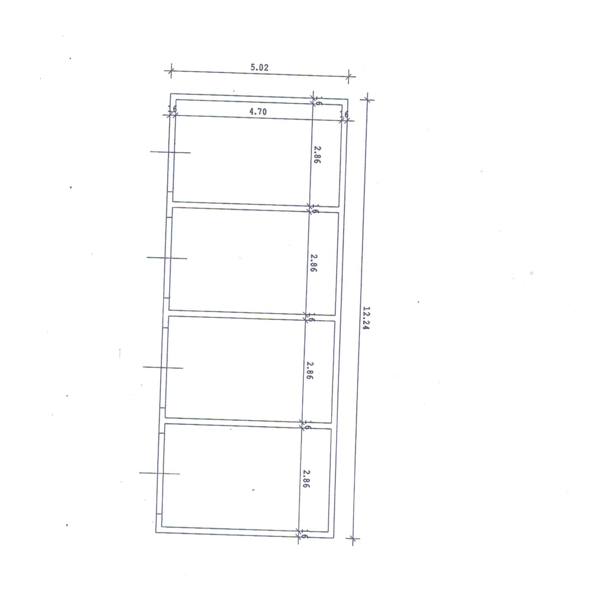 Planimetria 3/4 per rif. 1/3188