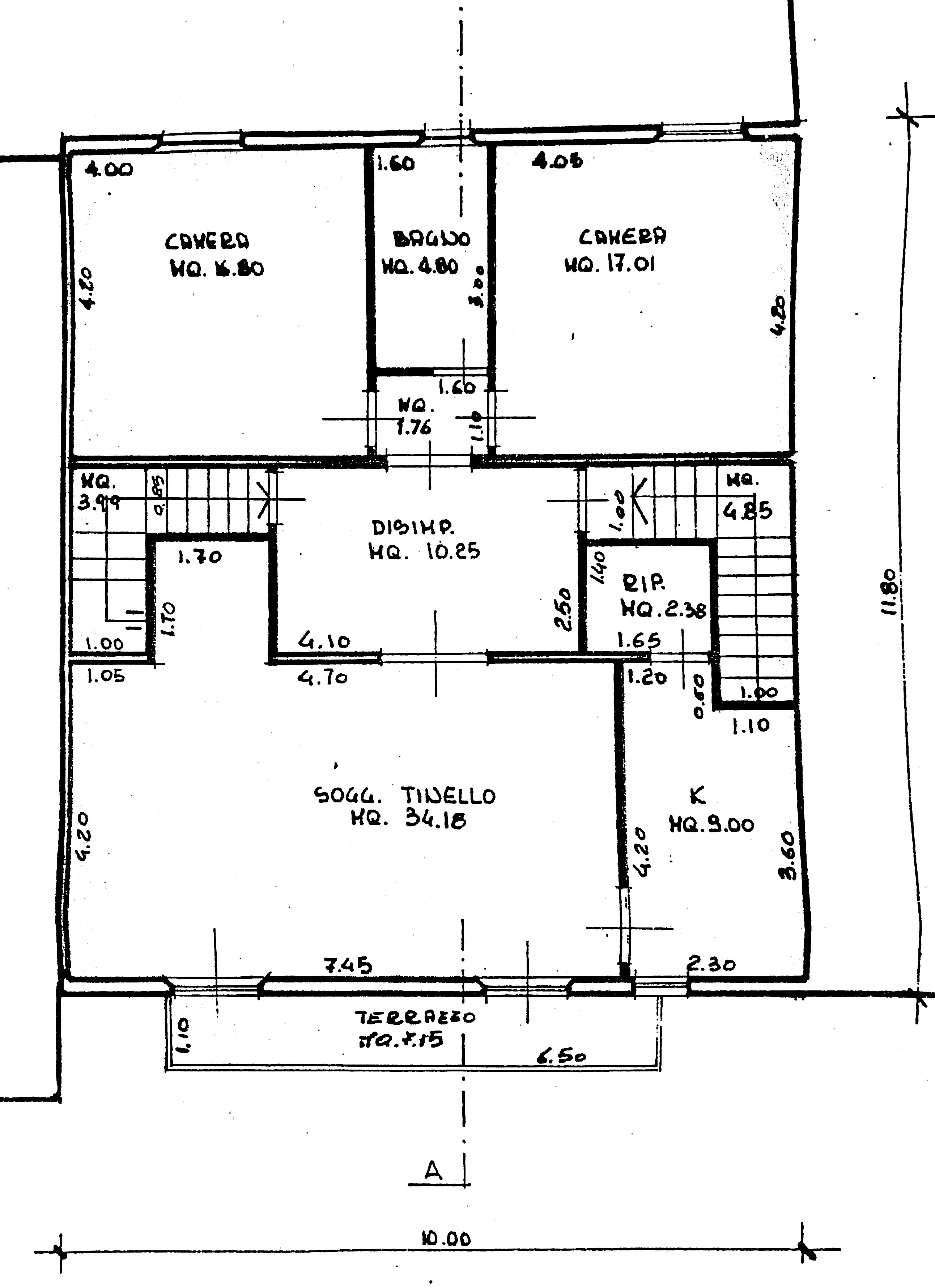 Planimetria 1/1 per rif. M/0003