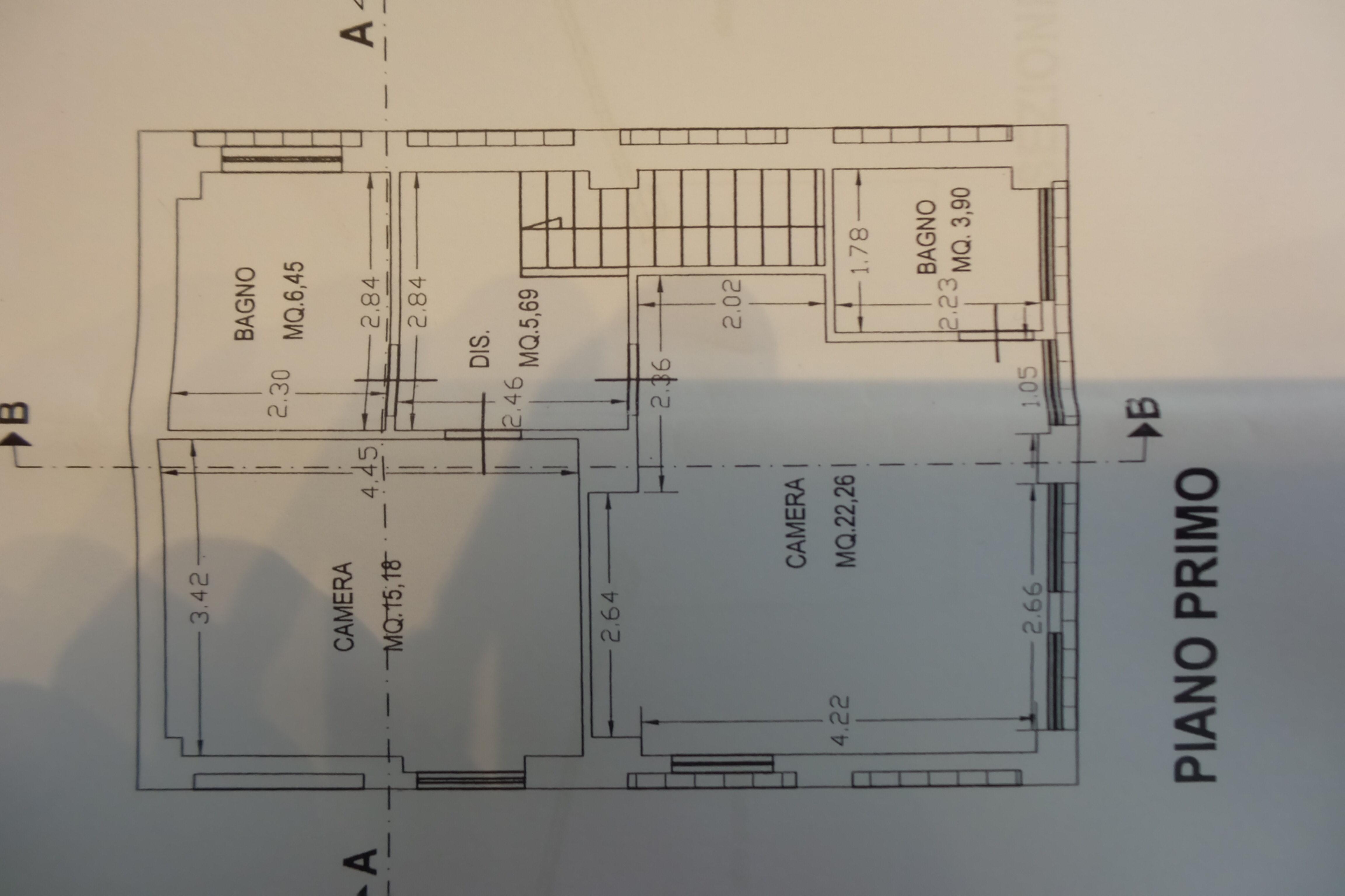 Planimetria 1/2 per rif. B/0217