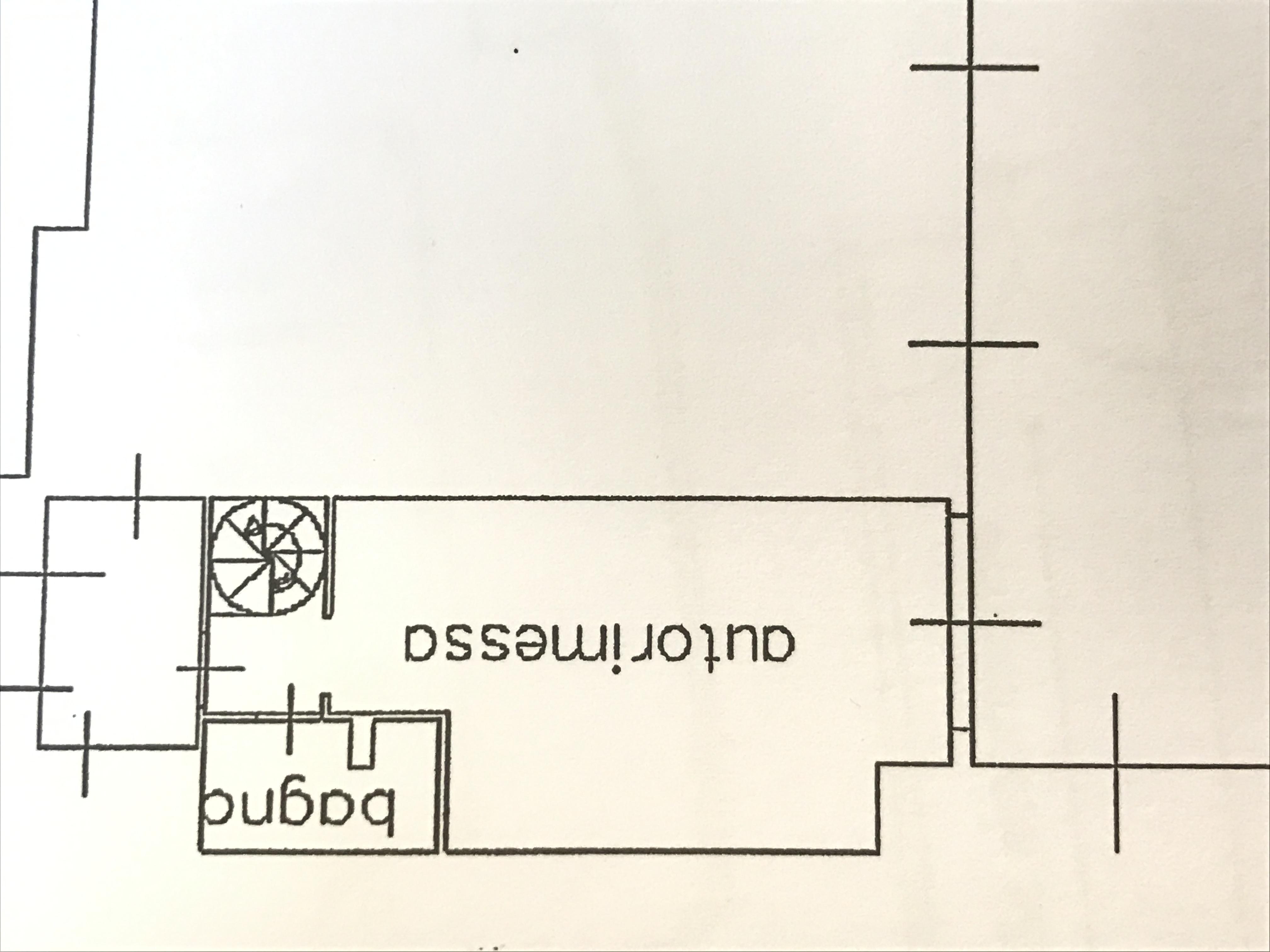 Planimetria 2/3 per rif. M/0027