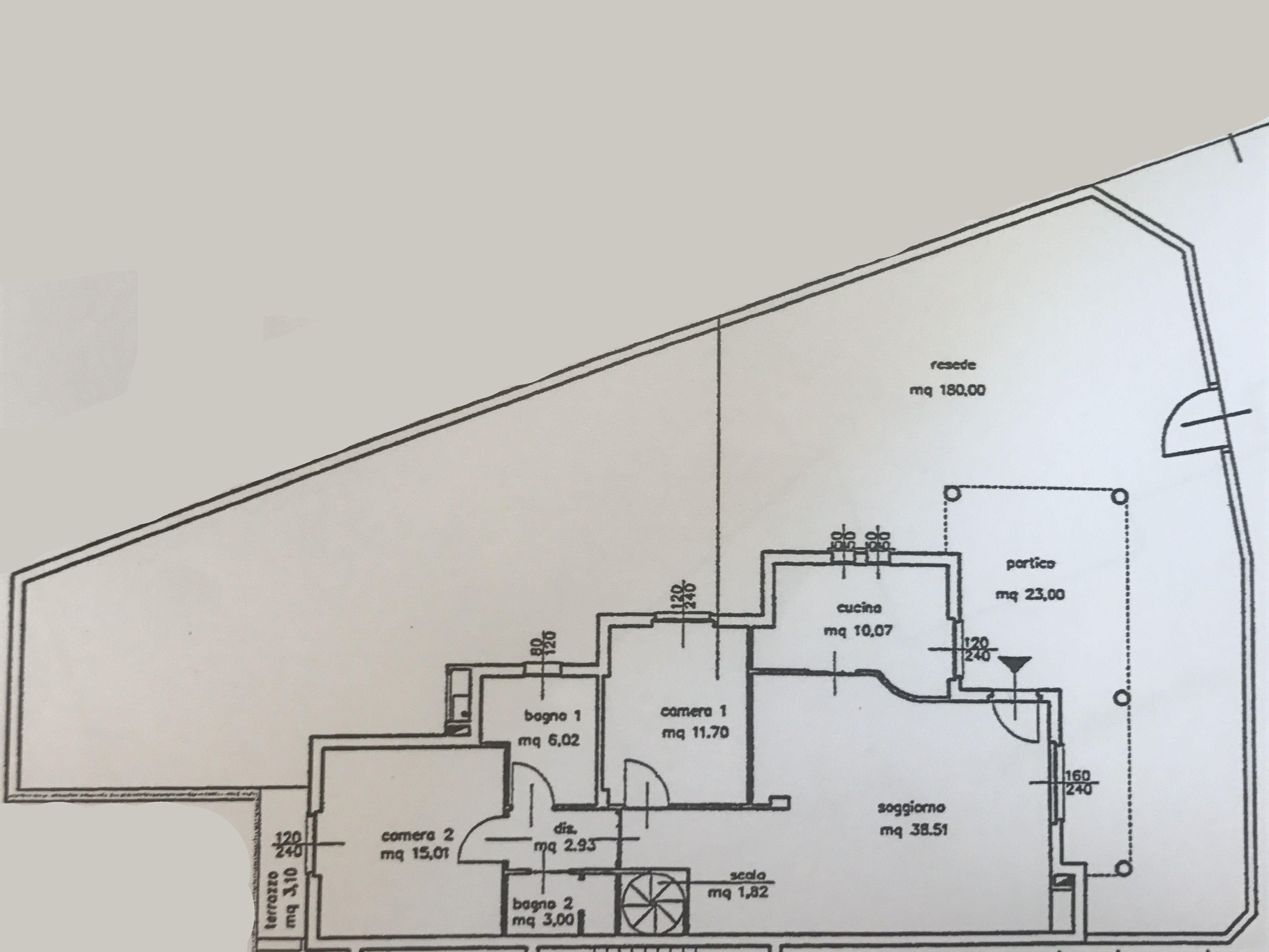 Planimetria 1/3 per rif. M/0027