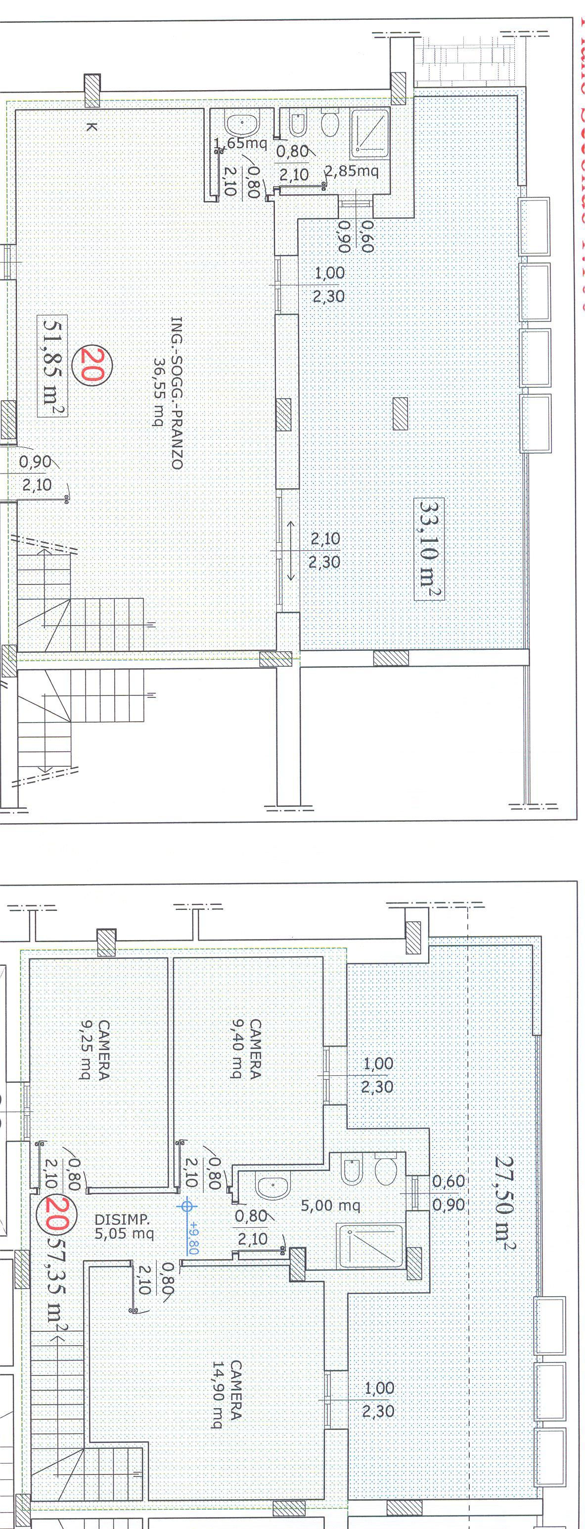 Planimetria 1/2 per rif. F/0082
