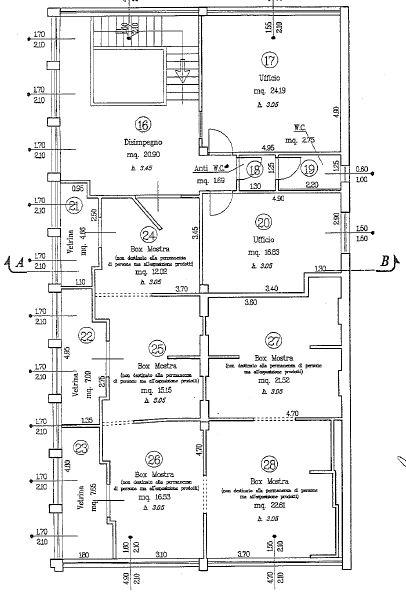 Planimetria 2/2 per rif. M/0060
