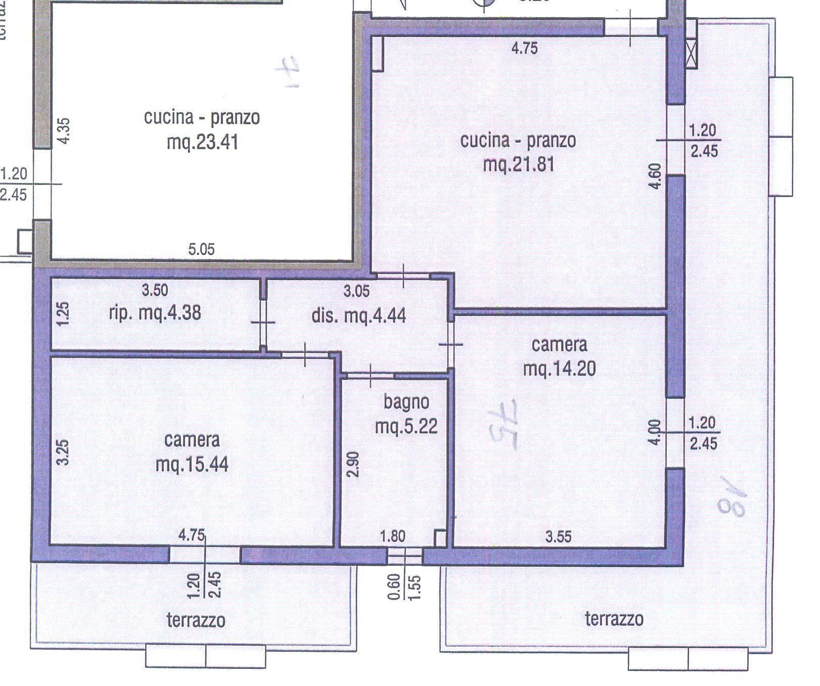Planimetria 1/1 per rif. M/0086