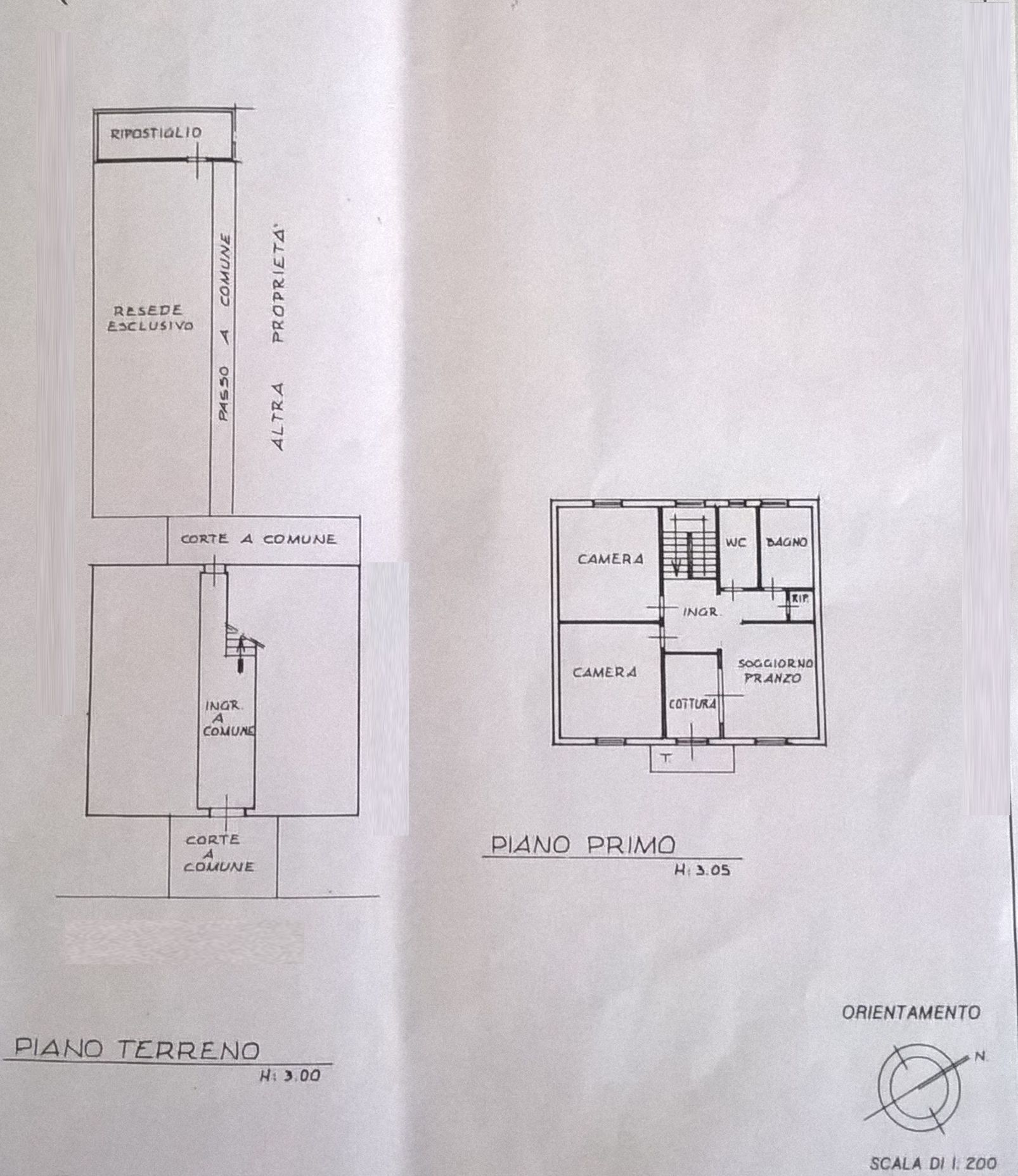 Planimetria 1/2 per rif. F/0119