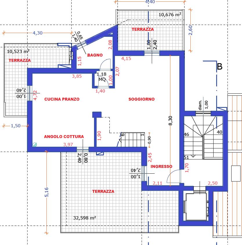 Planimetria 1/2 per rif. F/0157
