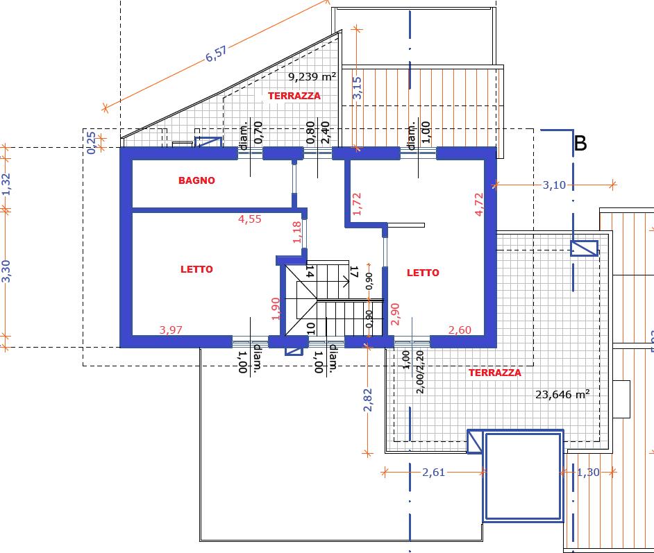 Planimetria 2/2 per rif. F/0157