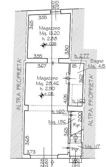 Planimetria 2/2 per rif. B/0120
