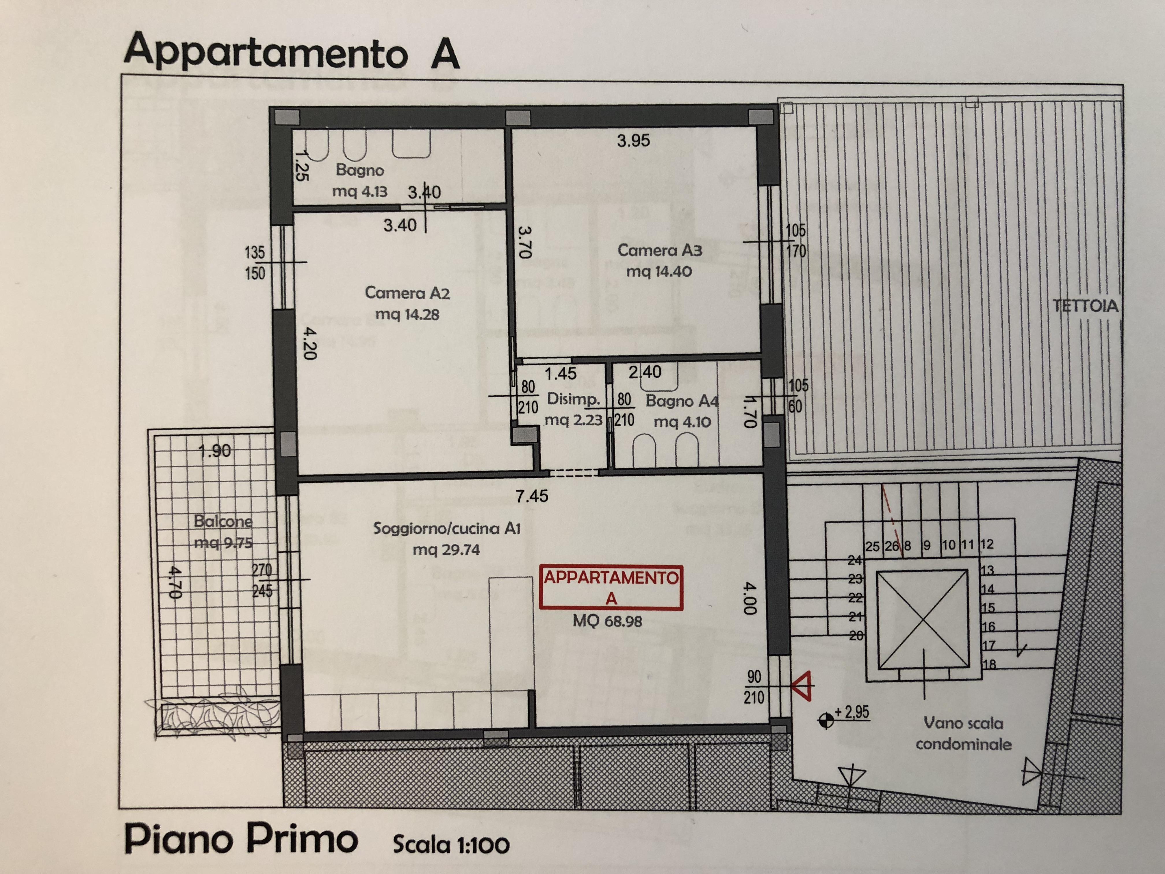 Planimetria 3/3 per rif. F/0184
