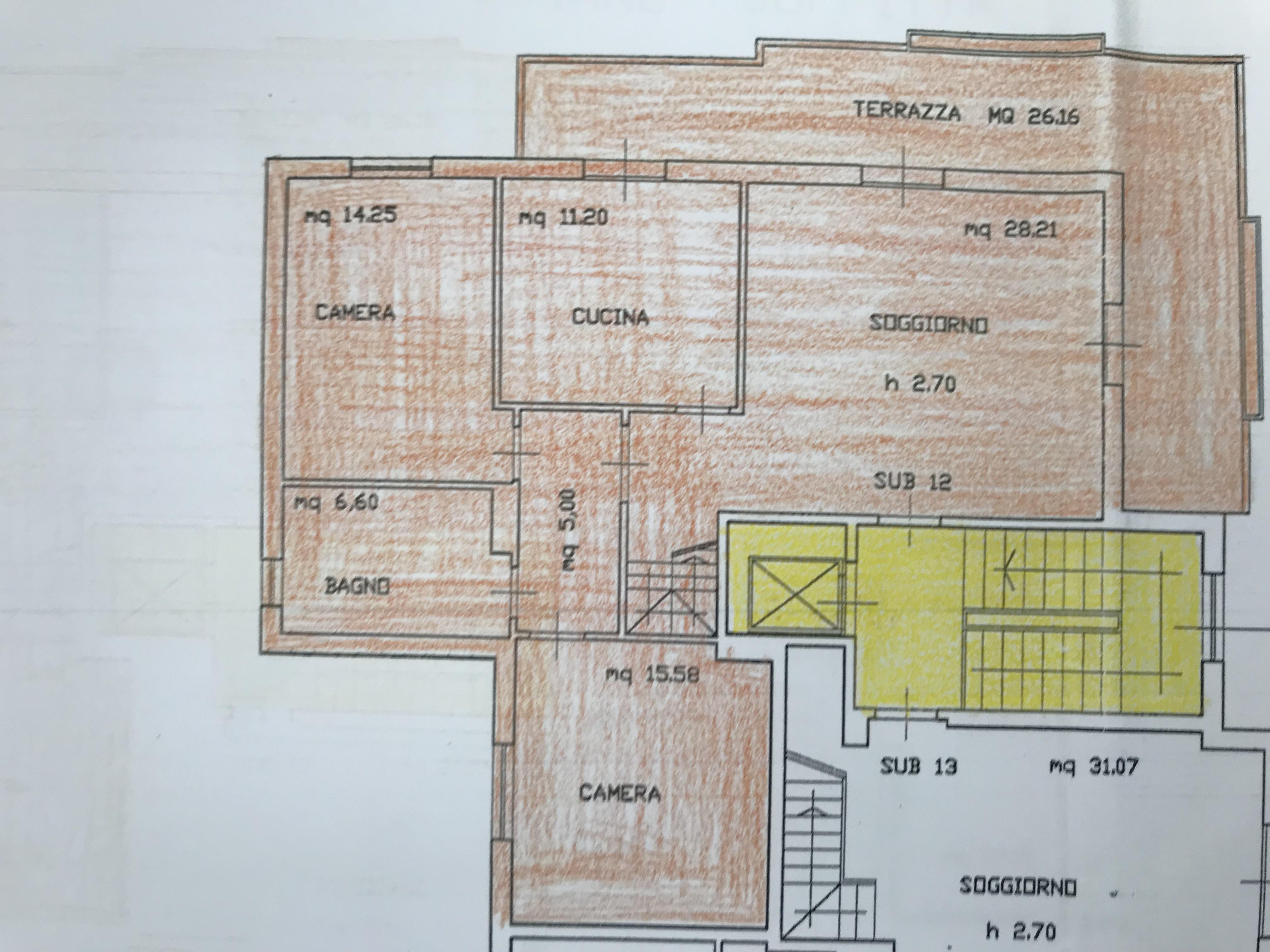 Planimetria 1/4 per rif. B/0138