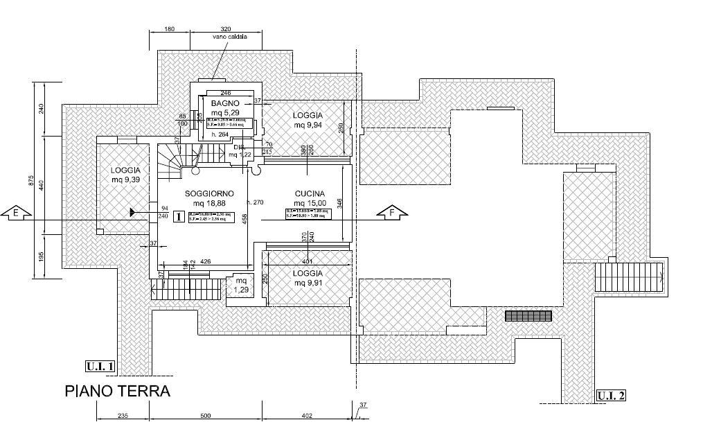 Planimetria 2/5 per rif. F/0238
