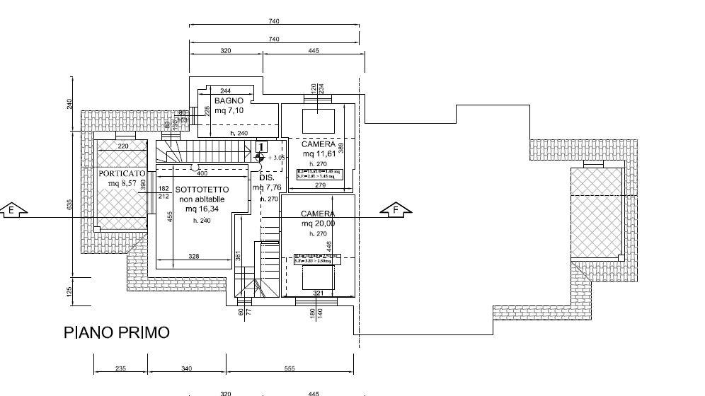 Planimetria 3/5 per rif. F/0238