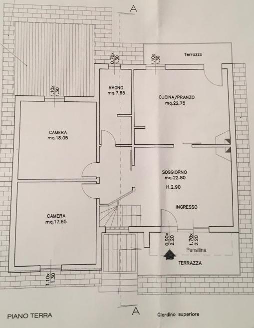 Planimetria 1/2 per rif. B/0151