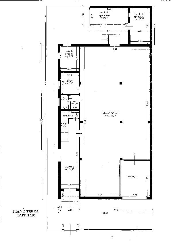 Planimetria 1/3 per rif. P/0119