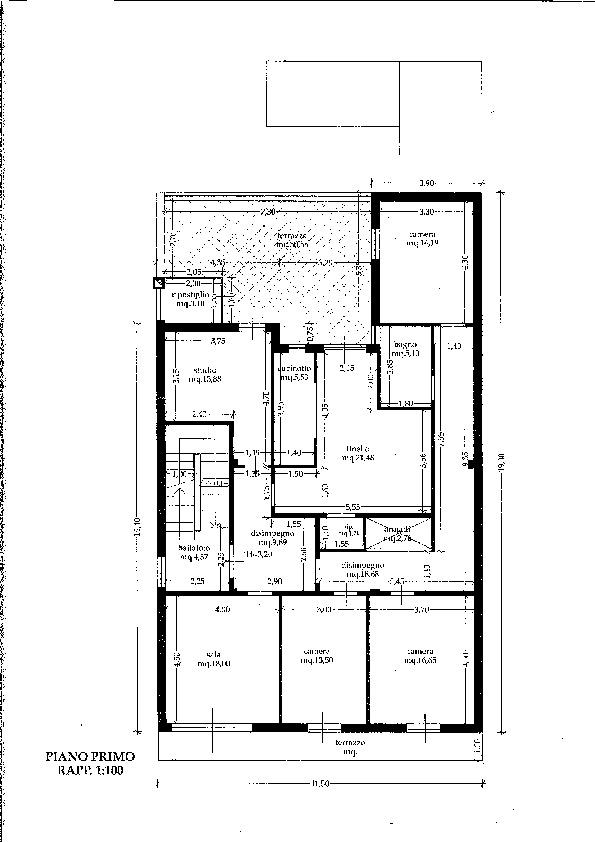 Planimetria 2/3 per rif. P/0119