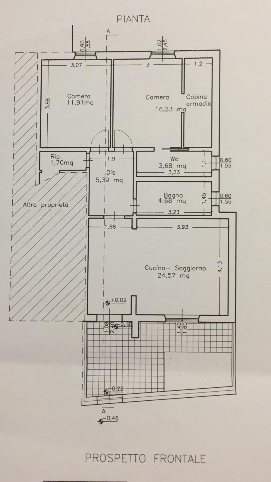 Planimetria 1/1 per rif. P/0120