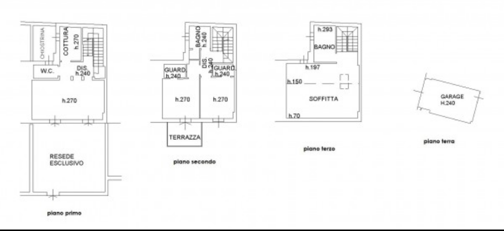 Planimetria 1/1 per rif. F/0254