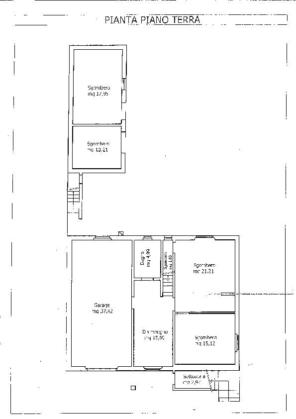 Planimetria 2/2 per rif. B/0164