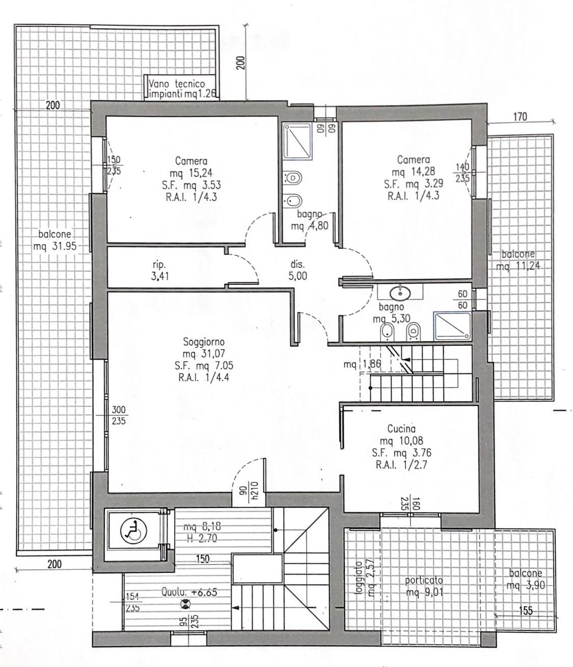 Planimetria 1/2 per rif. M/0206