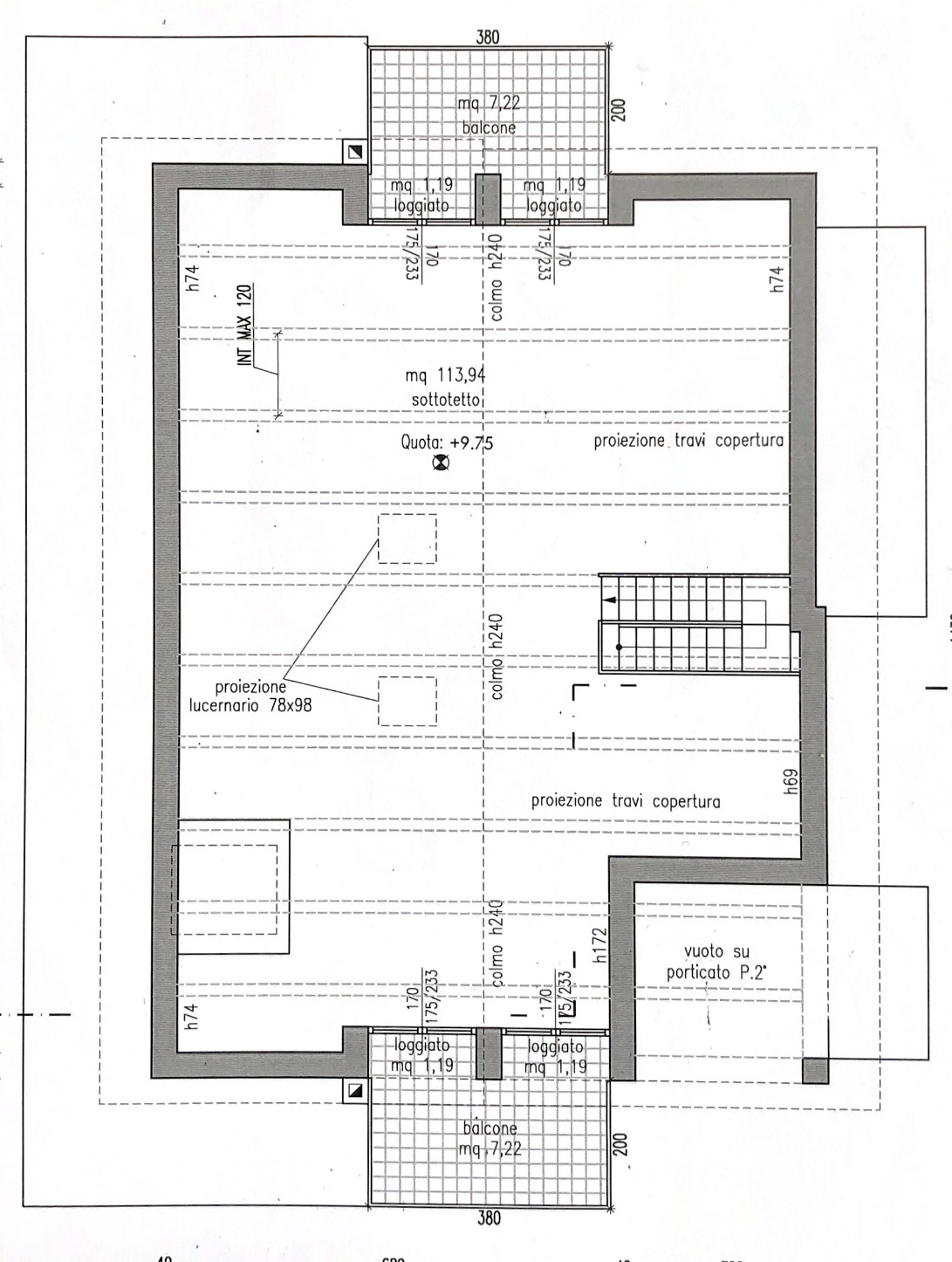 Planimetria 2/2 per rif. M/0206