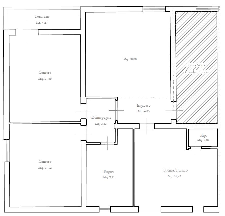 Planimetria 1/2 per rif. M/0209