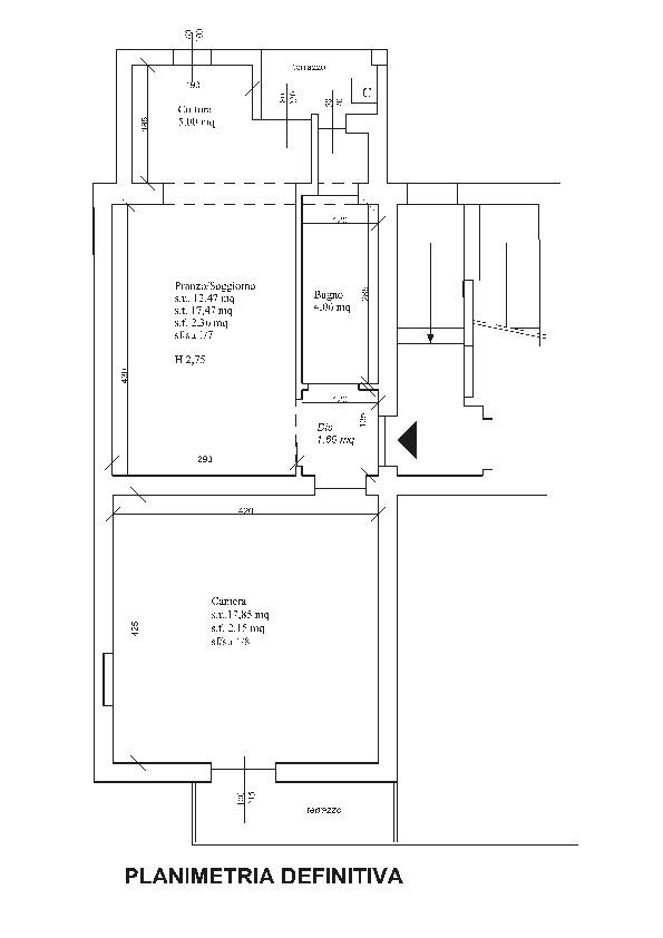 Planimetria 1/1 per rif. F/0263
