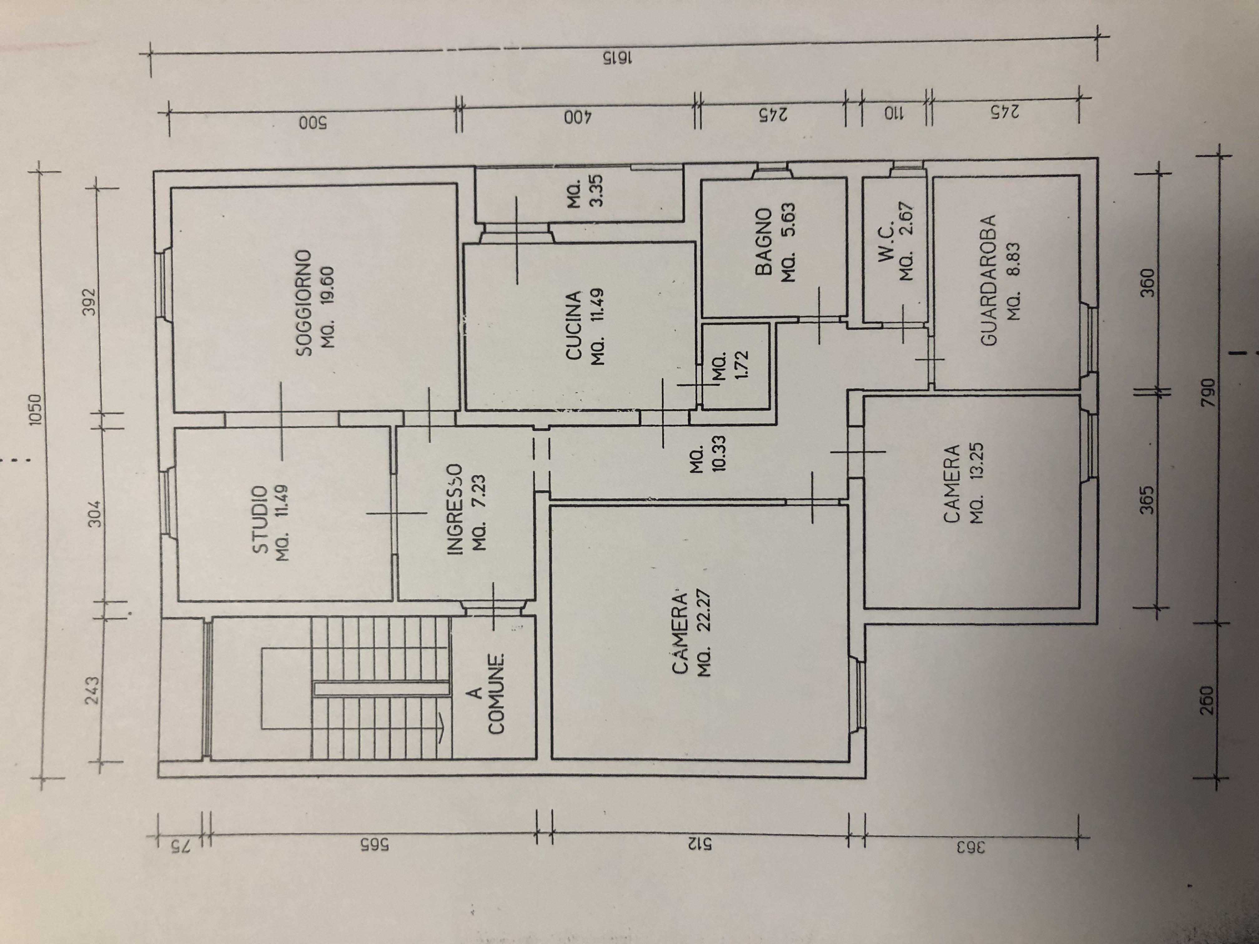 Planimetria 1/1 per rif. F/0272
