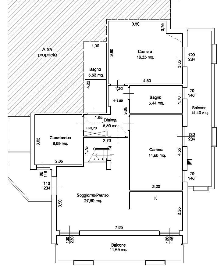 Planimetria 1/1 per rif. M/0221