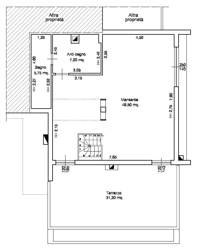 Planimetria 2/2 per rif. M/0221
