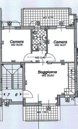Planimetria 1/3 per rif. M/0224