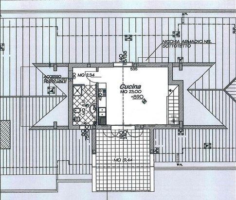 Planimetria 2/3 per rif. M/0224
