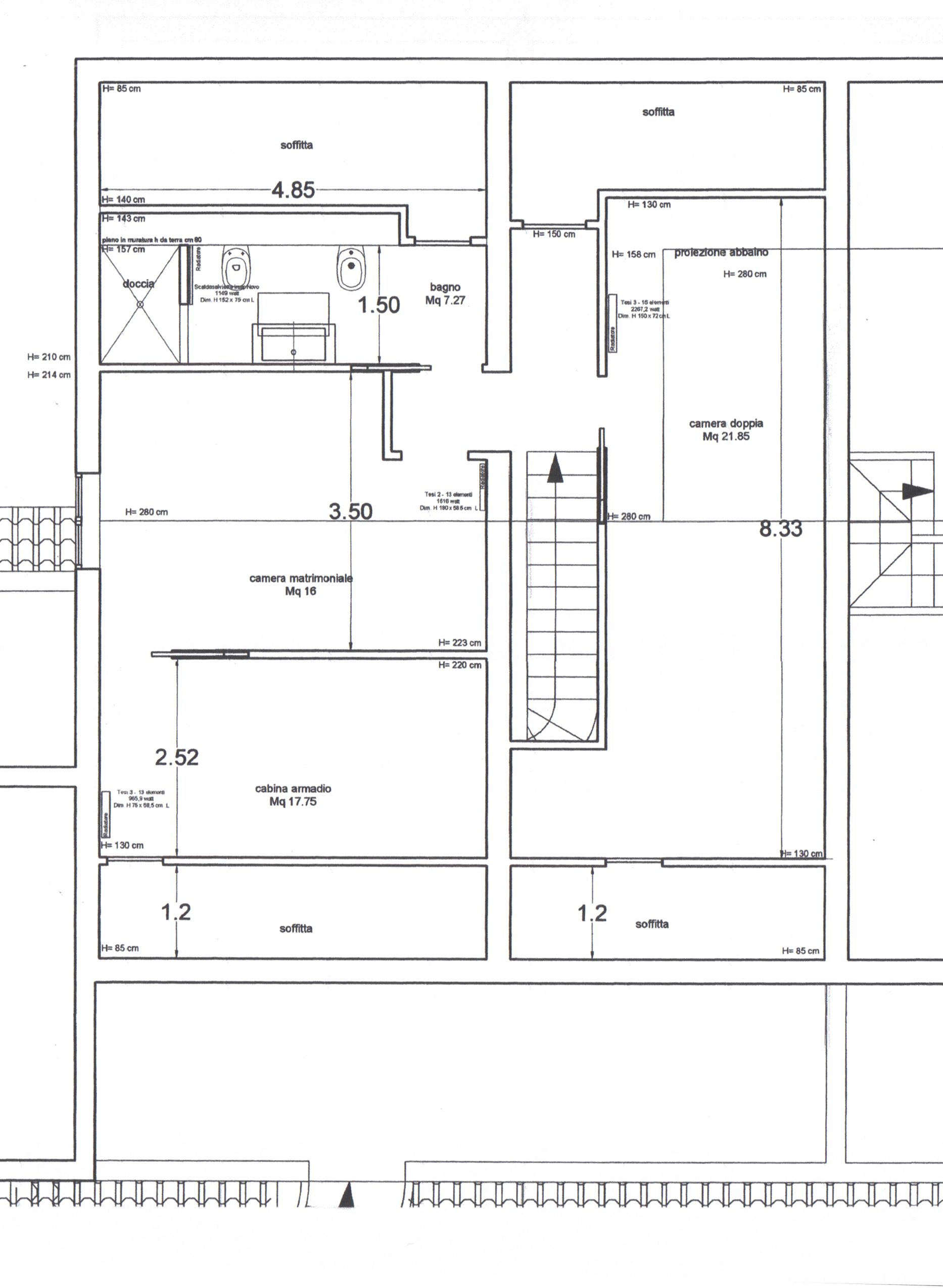 Planimetria 1/2 per rif. B/0181