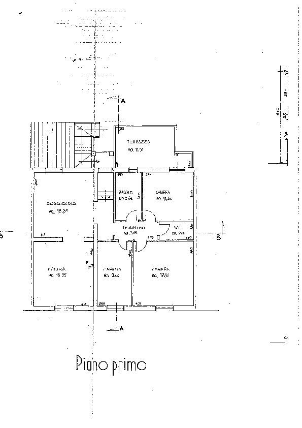 Planimetria 1/1 per rif. B/0182